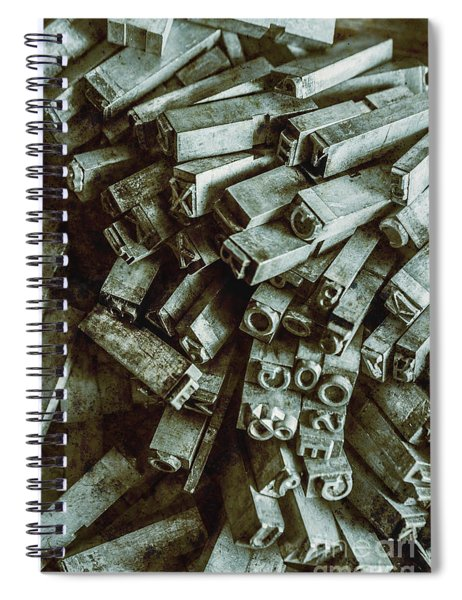 Industrial Letterpress Typeset  Spiral Notebook