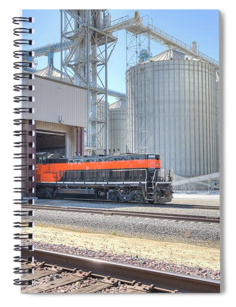 Spiral Notebook featuring the photograph Industrial Switcher 5405 by Jim Thompson