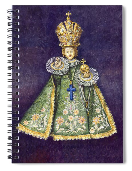 Infant Jesus Of Prague Spiral Notebook