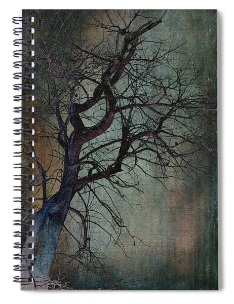 Infared Tree Art Twisted Branches Spiral Notebook