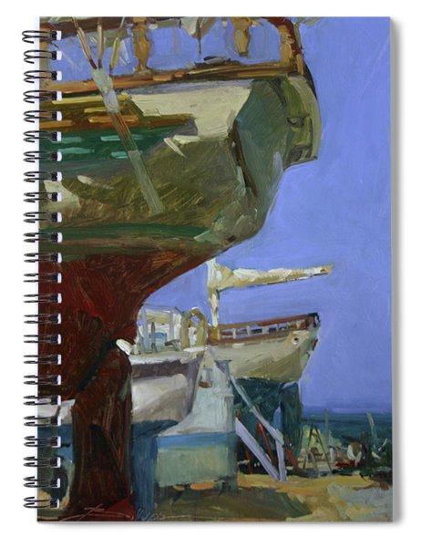Infinity Awaiting Winter - Plein Air Catalina Island Spiral Notebook