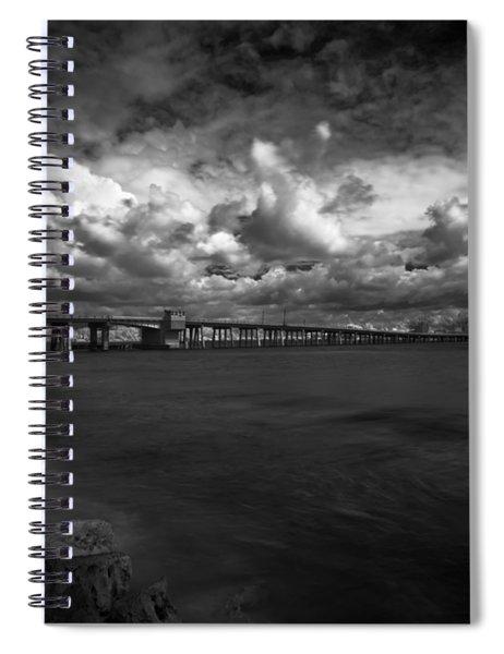 Infrared Longboat Pass Bridge Spiral Notebook