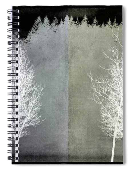 Infrared Trees With Texture Spiral Notebook