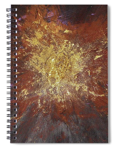 Spiral Notebook featuring the painting Inner Fire by Michael Lucarelli