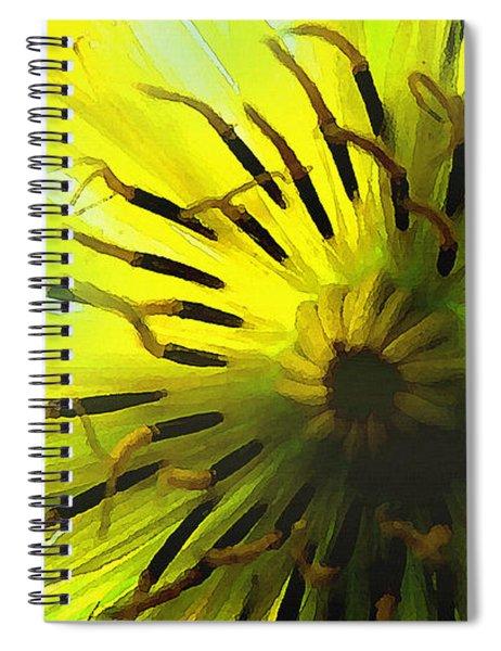 Inside A Yellow Goatsbeard  Spiral Notebook