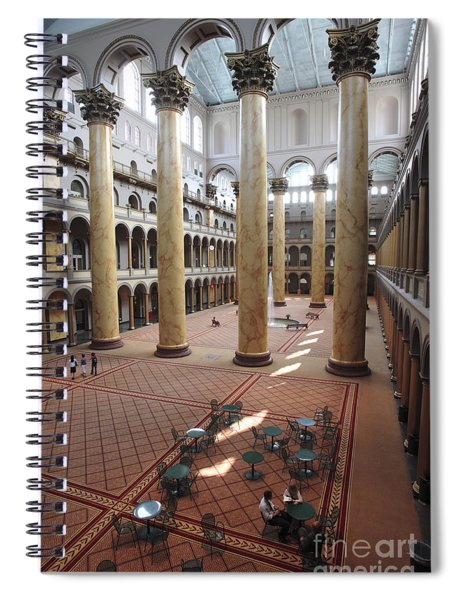 Inside The National Building Museum In Washington Dc Spiral Notebook