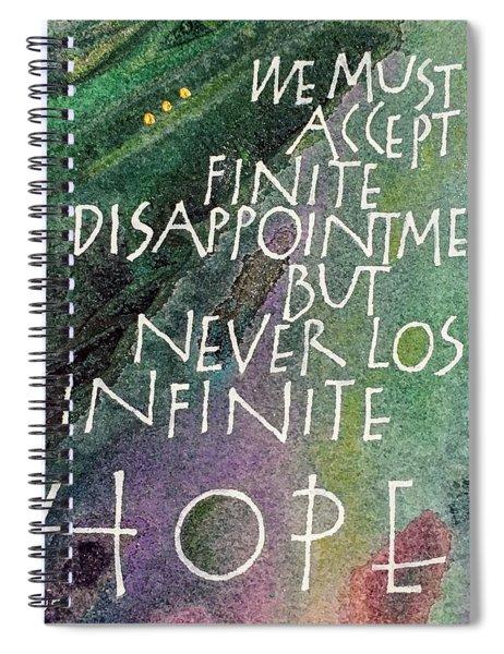 Inspirational Saying Hope Spiral Notebook