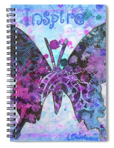 Inspire Butterfly Spiral Notebook