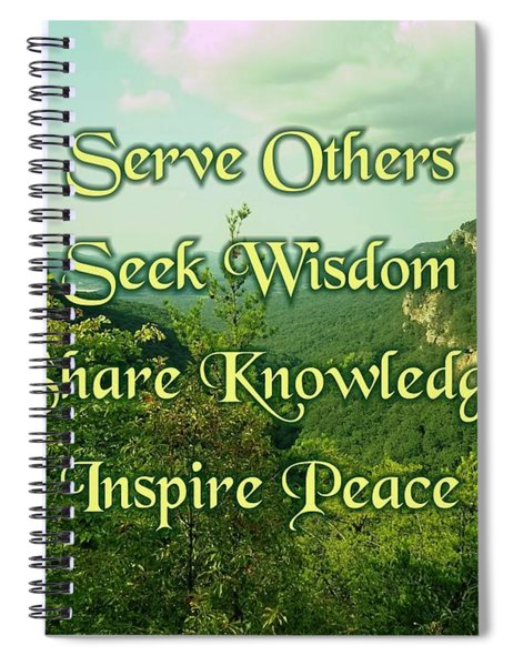 Inspire Peace Spiral Notebook
