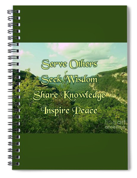 Inspire Peace Spiral Notebook