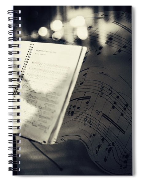 Inspiring Music Of The Night Streets Spiral Notebook