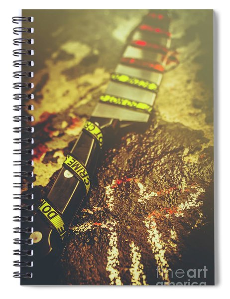 Instrument Of Crime Spiral Notebook