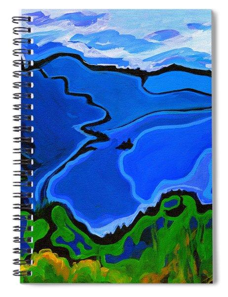 Intense Blue Spiral Notebook