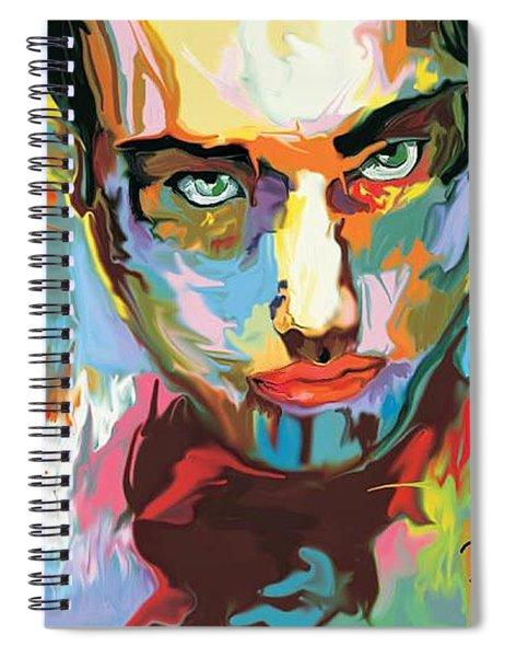 Intense Face 2 Spiral Notebook