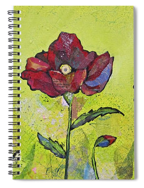 Intensity Of The Poppy I Spiral Notebook