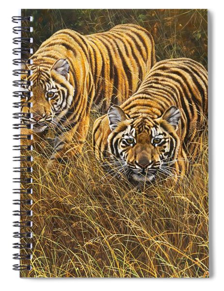 Spiral Notebook featuring the painting Intent by Alan M Hunt
