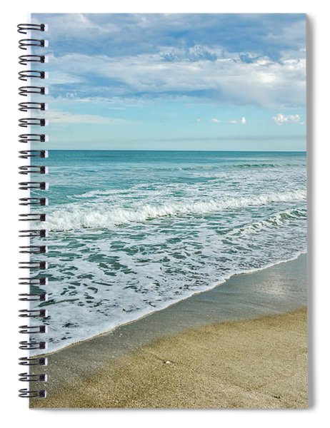 Interesting Clouds And Waves Spiral Notebook