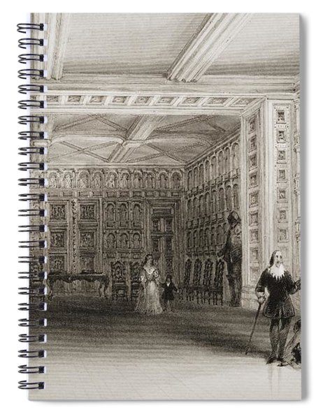 Interior Of A Room At Malahide Castle Spiral Notebook