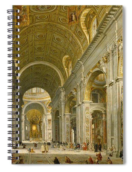 Interior Of St. Peter's - Rome Spiral Notebook