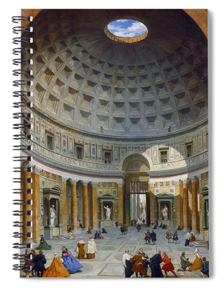 Interior Of The Pantheon Spiral Notebook