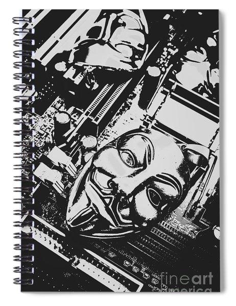Internet Hactivist Spiral Notebook