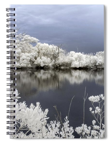 Intimate Lake In Infrared Spiral Notebook