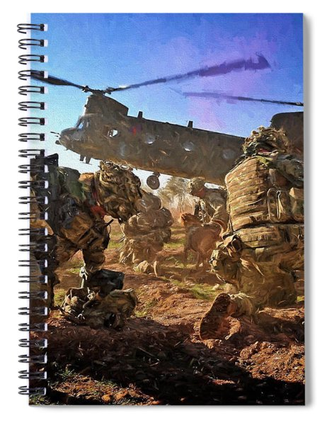 Into Battle - Painting Spiral Notebook