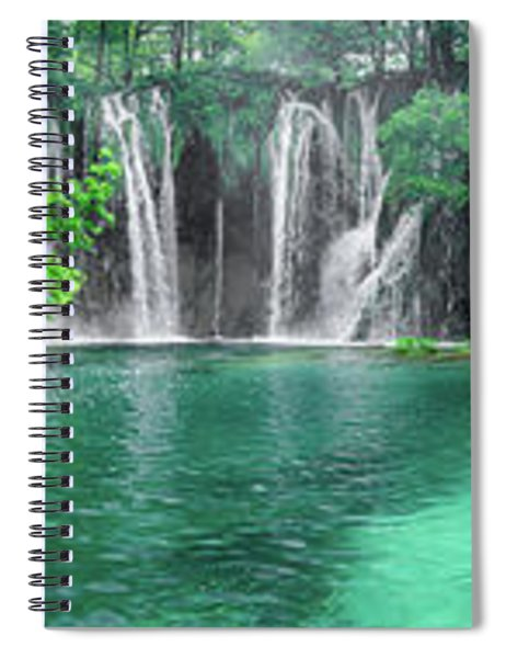 Into The Waterfalls - Plitvice Lakes National Park Croatia Spiral Notebook