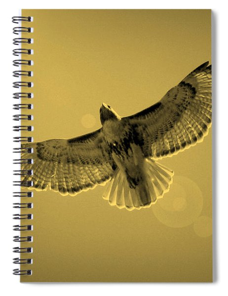Into The Light - Sepia Spiral Notebook