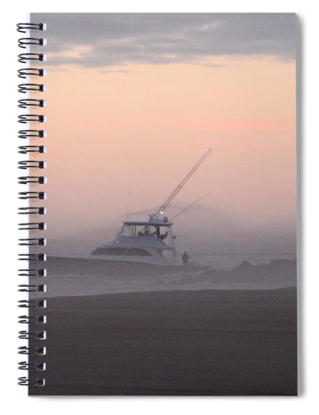 Into The Pink Fog Spiral Notebook