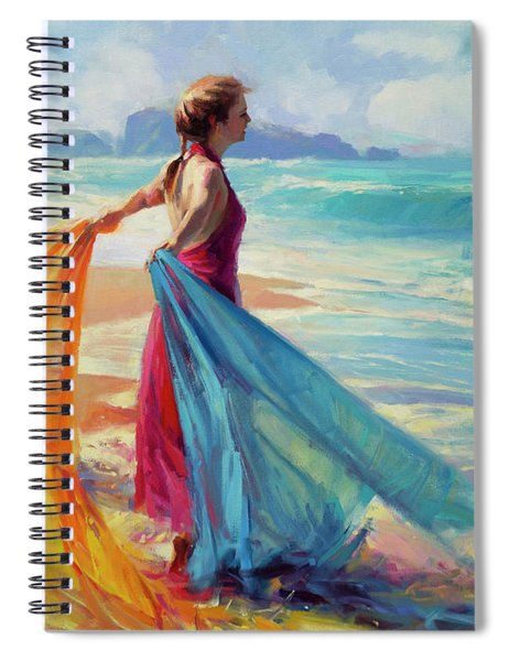 Into The Surf Spiral Notebook