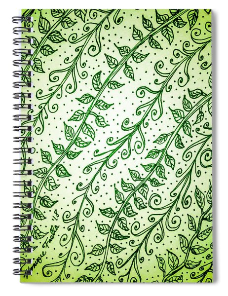 Into The Thick Of It, Green Spiral Notebook