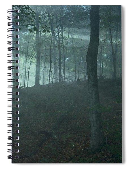 Iowa Fog Rays Spiral Notebook