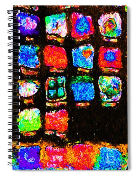 Iphone In Abstract Spiral Notebook