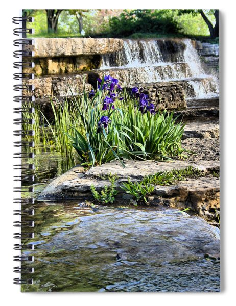 Spiral Notebook featuring the photograph  Iris 1315hdr by Brian Gryphon