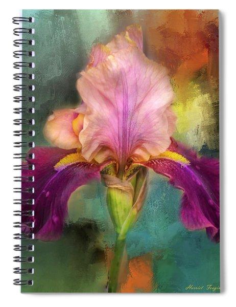 Iris Abstract  Spiral Notebook
