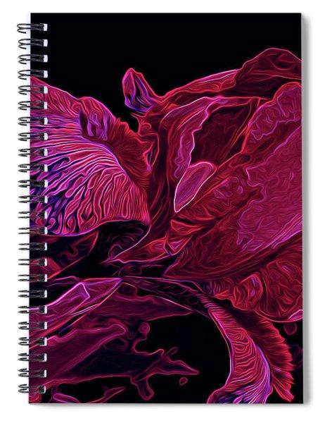 Iris Deep Red Glow Spiral Notebook