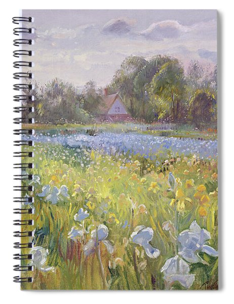 Iris Field In The Evening Light Spiral Notebook