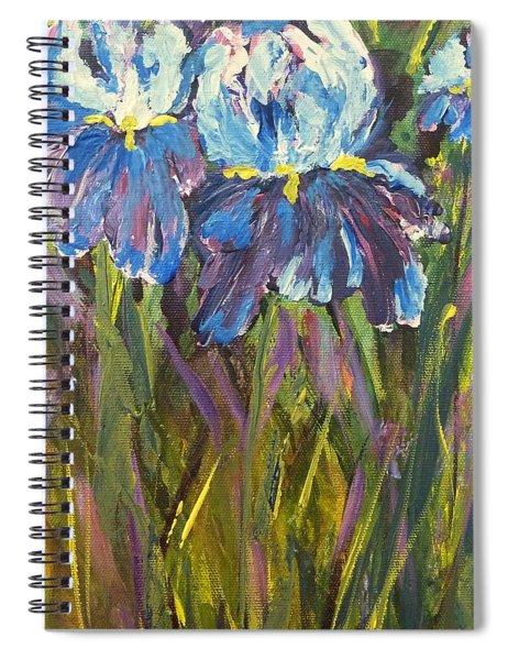 Iris Floral Garden Spiral Notebook