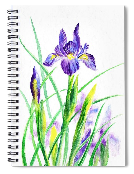 Iris Flowers Botanical  Spiral Notebook