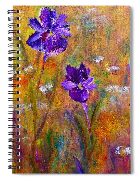 Iris Wildflowers And Butterfly Spiral Notebook