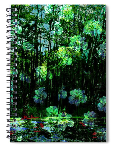 Irises Falling From A Southern Sky  Spiral Notebook