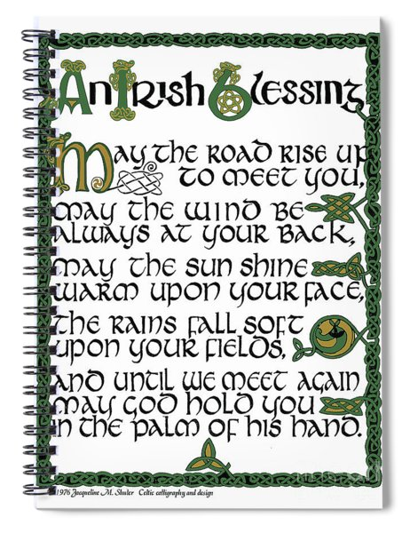 Irish Blessing Spiral Notebook