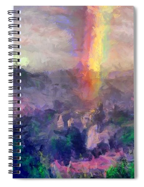 Irish Rainbow Spiral Notebook