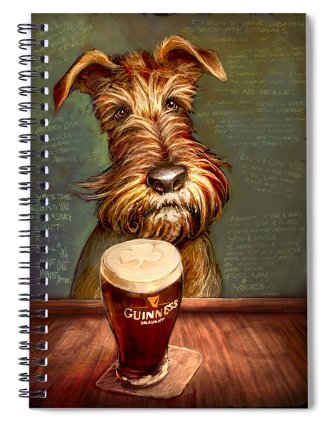 Irish Toast Spiral Notebook by Sean ODaniels