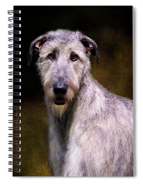 Irish Wolfhound Portrait Spiral Notebook