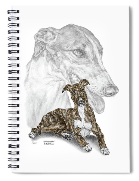 Irresistible - Greyhound Dog Print Color Tinted Spiral Notebook