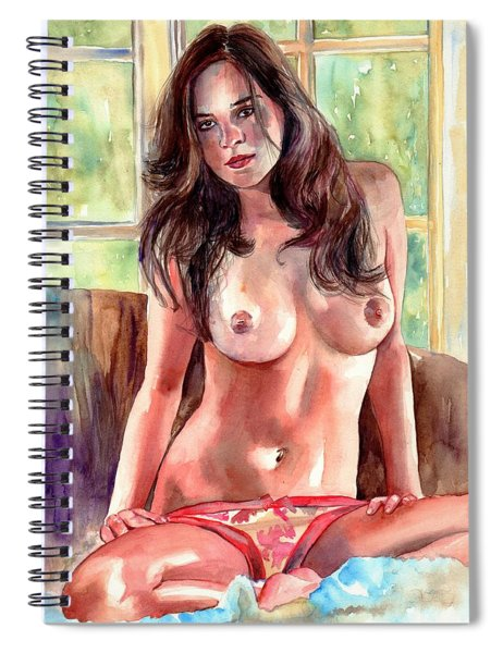 Isabella Nude Lady Portrait Spiral Notebook