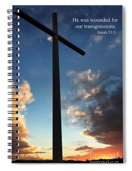 Isaiah 53-5 Spiral Notebook