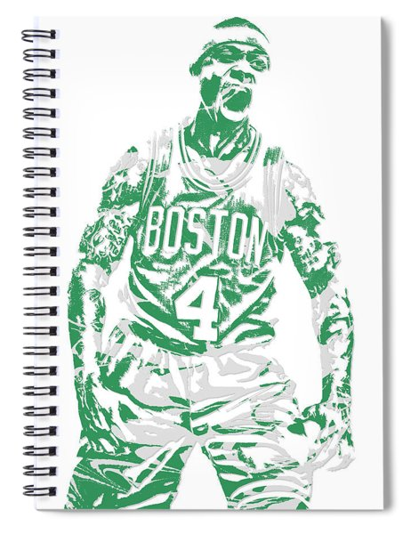 Isaiah Thomas Boston Celtics Pixel Art 16 Spiral Notebook